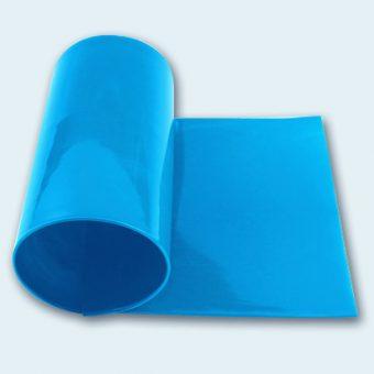 Flachband 140 mm PU 75 A himmelblau glatt