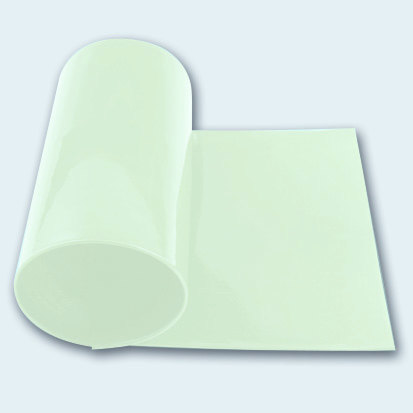 Flachband 140 mm PU 60 A transparent glatt