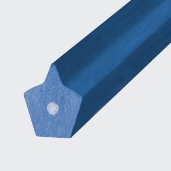 Spitzkeilriemen PU 85 A blau, Zugträger Glasfaser (Form 1 ohne Nut)
