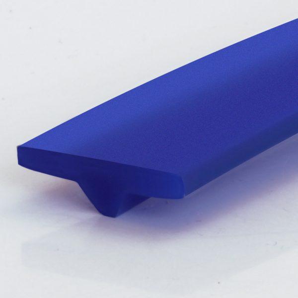 T-Profil PU 80 A ultramarinblau glatt (15 x 5 mm)