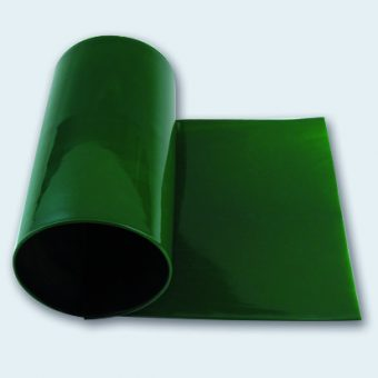Flachband 140 mm PU 85 A grün glatt