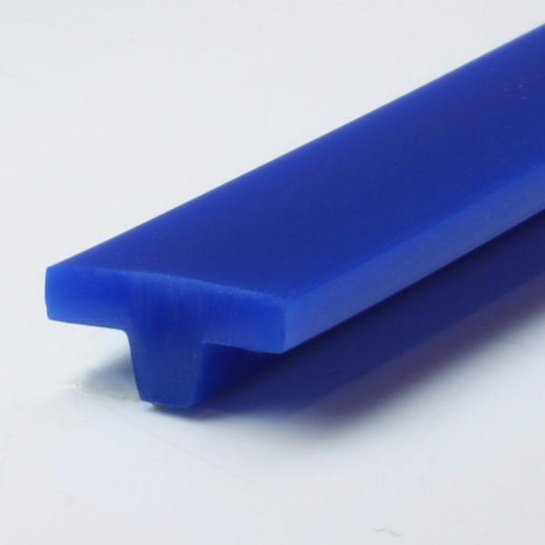 T-Profil PU 80 A ultramarinblau glatt (10 x 4,5 mm)