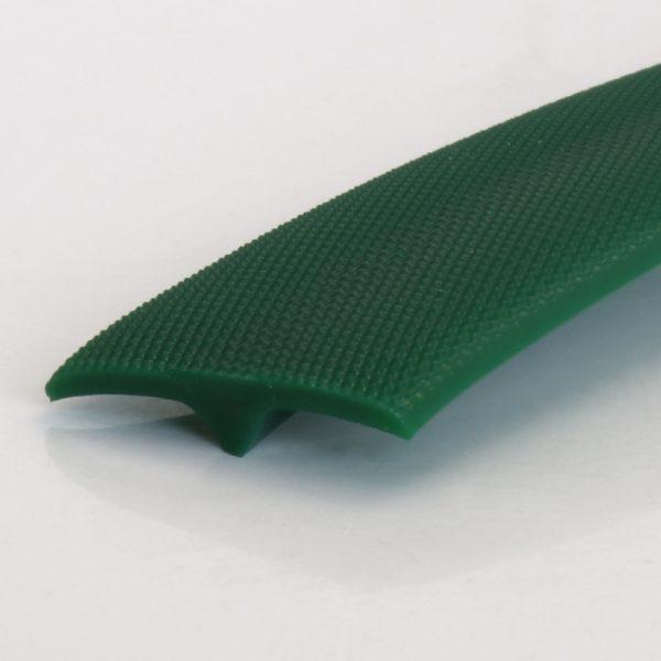 T-Profil / T-Profile, PU 85 A, grün / green, geprägt / embossed, (25 x 5 mm)