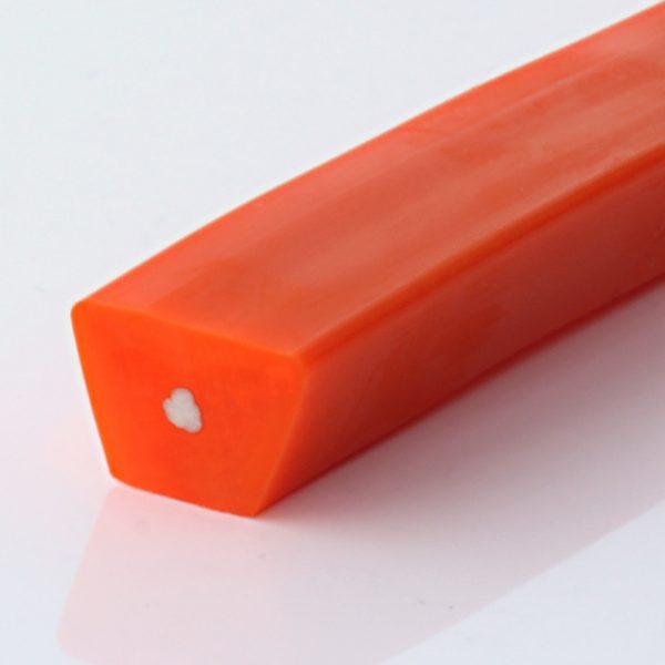 Keilriemen PU 80 A orange glatt, Zugträger Polyester