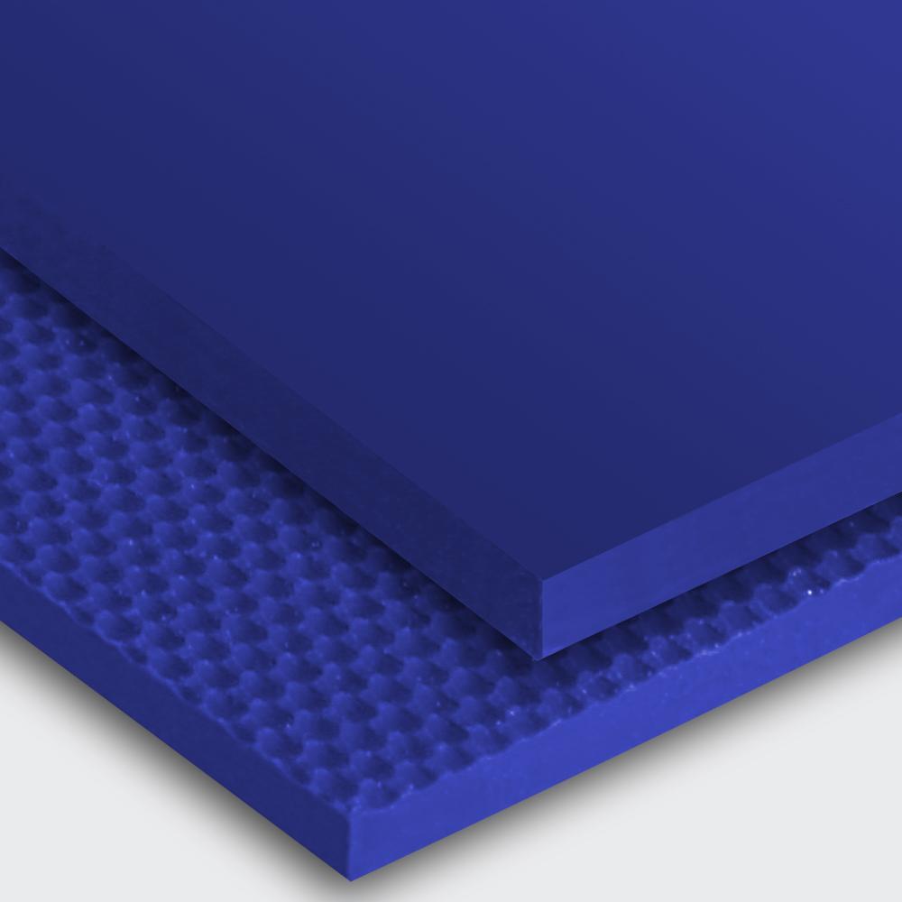 Transportband PU65A ultramarinblau  glatt glänzend (SG) / feinstrukturiert (FI)