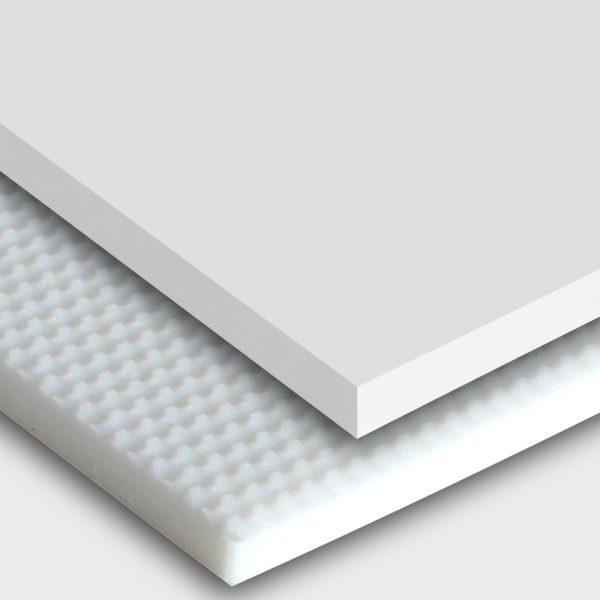 Transportband PU75A weiß glatt matt (SM) / feinstrukturiert (FI)