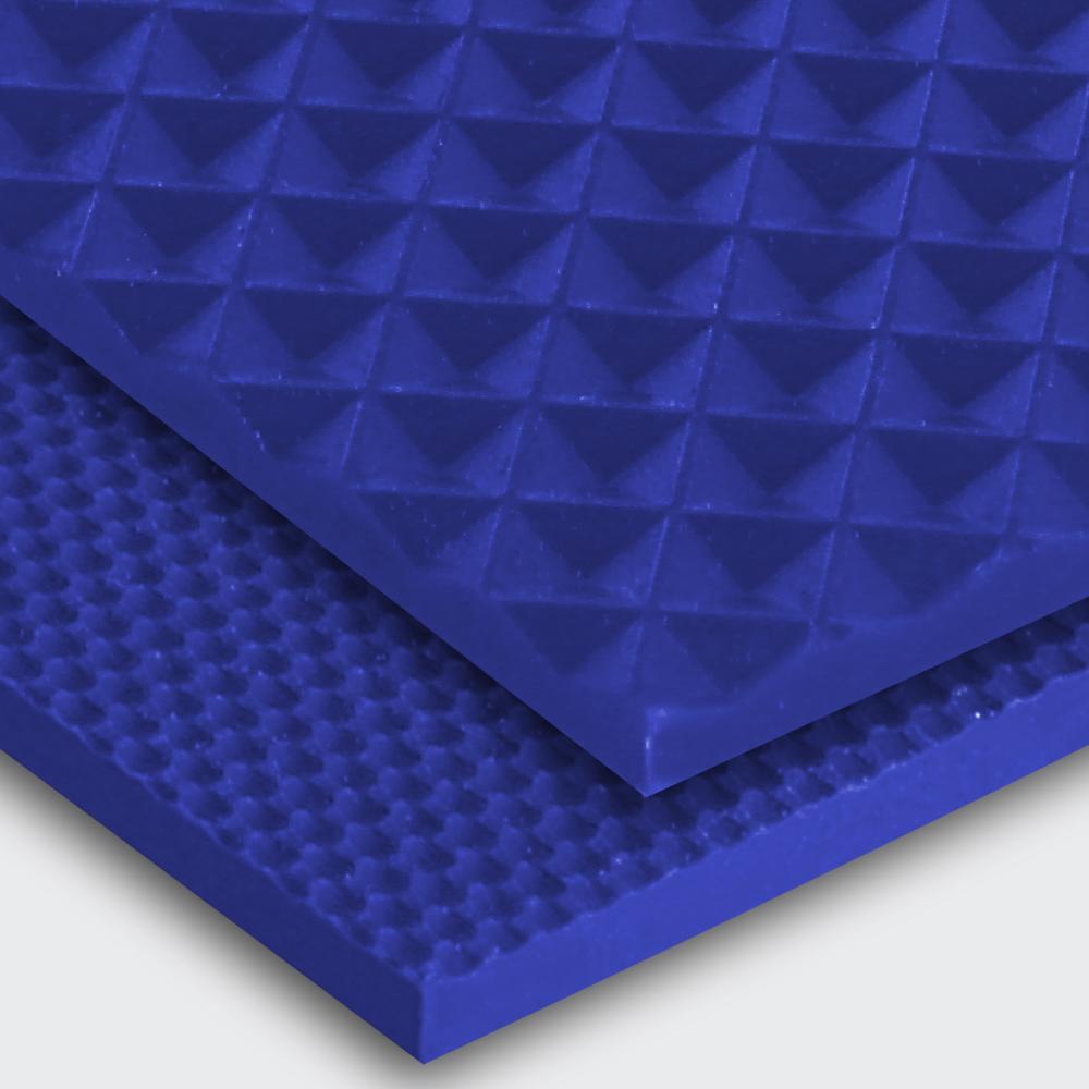 Transportband PU80A ultramarinblau Diamant (ID) / feinstrukturiert (FI)