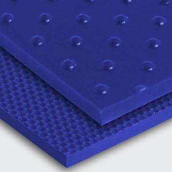 Transportband PU80A ultramarinblau Noppen (NP) / feinstrukturiert (FI)