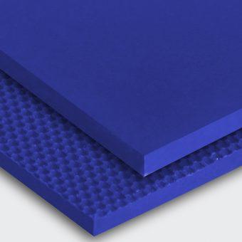 Transportband PU95A ultramarinblau glatt matt (SM) / feinstrukturiert (FI)