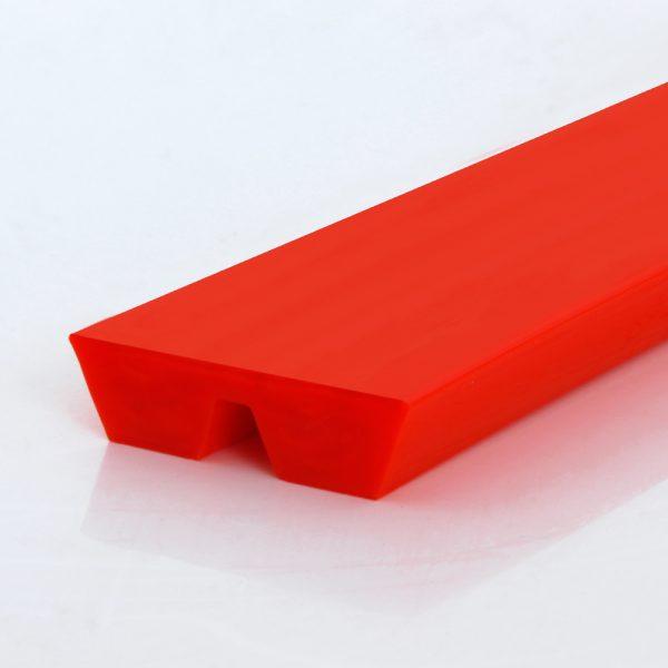 Parallelkeilriemen / Twin-V-belt, PU75A, rot / red, glatt / smooth