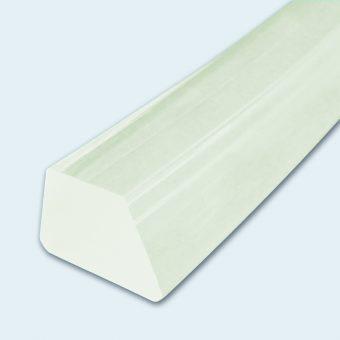 Keilleiste PU60A transparent glatt