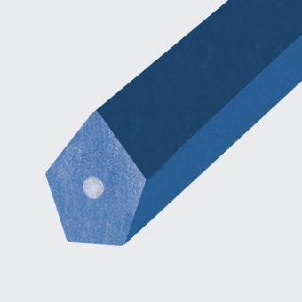 Spitzkeilriemen PU85A blau, Zugträger Glasfaser (Form 2)