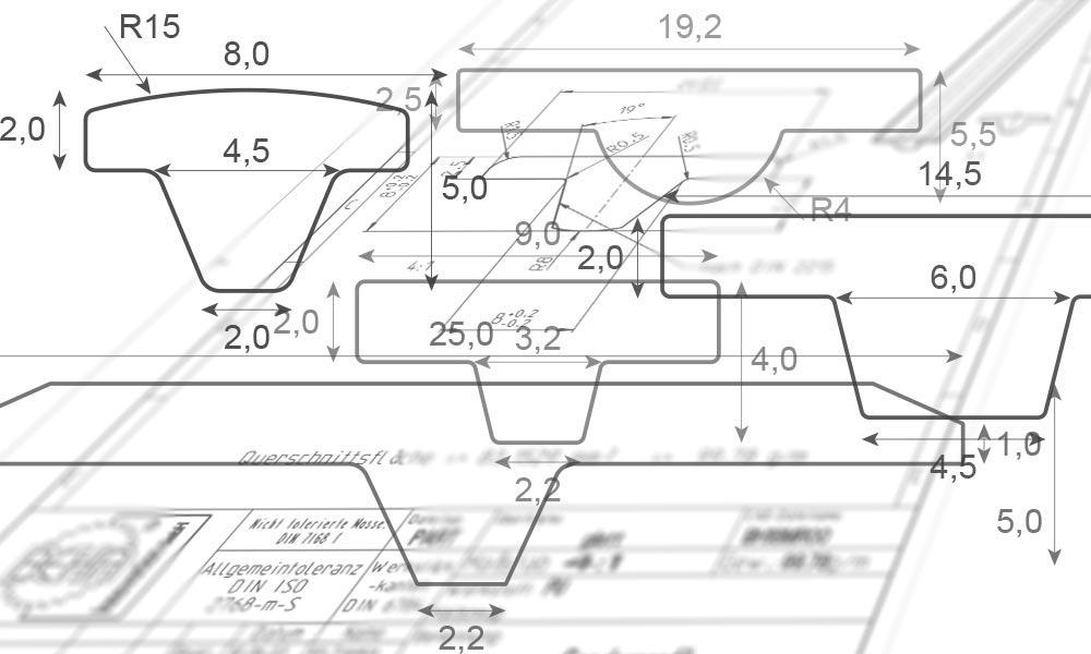 BEHAbelt T-Profil-Riemen Geometrien