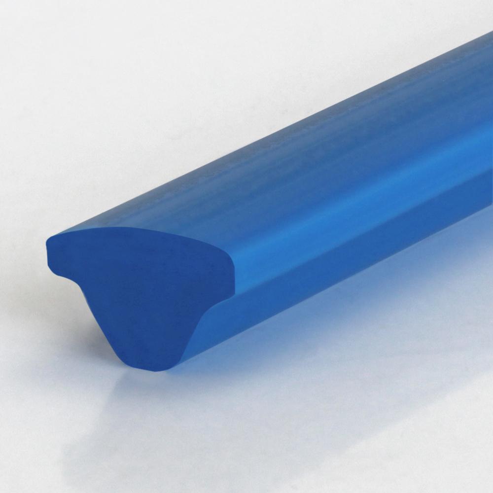 T-Profil PU75A himmelblau glatt
