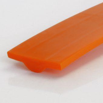 T-Profil PU80A orange halbrund glatt