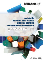 Weldable round- and v-belts