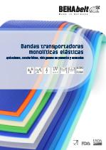 Bandas transportadoras monolíticas elásticas