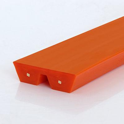 Parallelkeilriemen orange glatt Zugträger Polyester