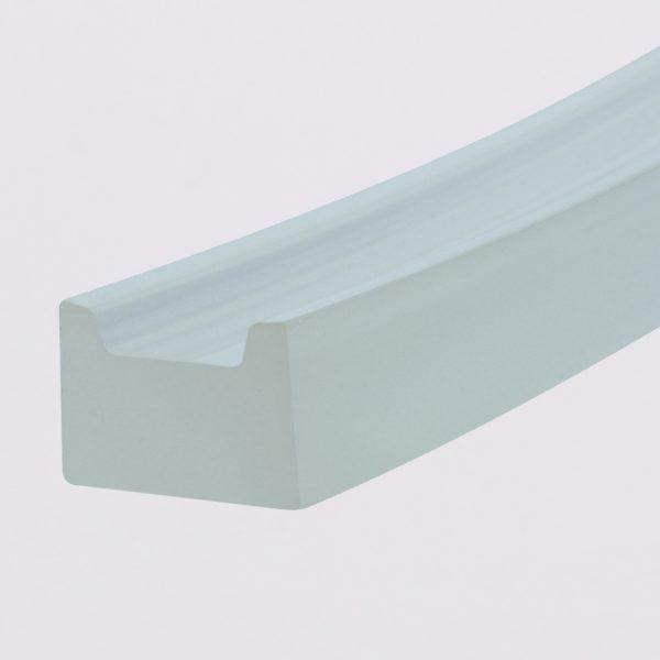U-Profil / U-profile, PU85A, milchig / milky, glatt / smooth