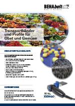 Transportbänder und Profile für Obst und Gemüse