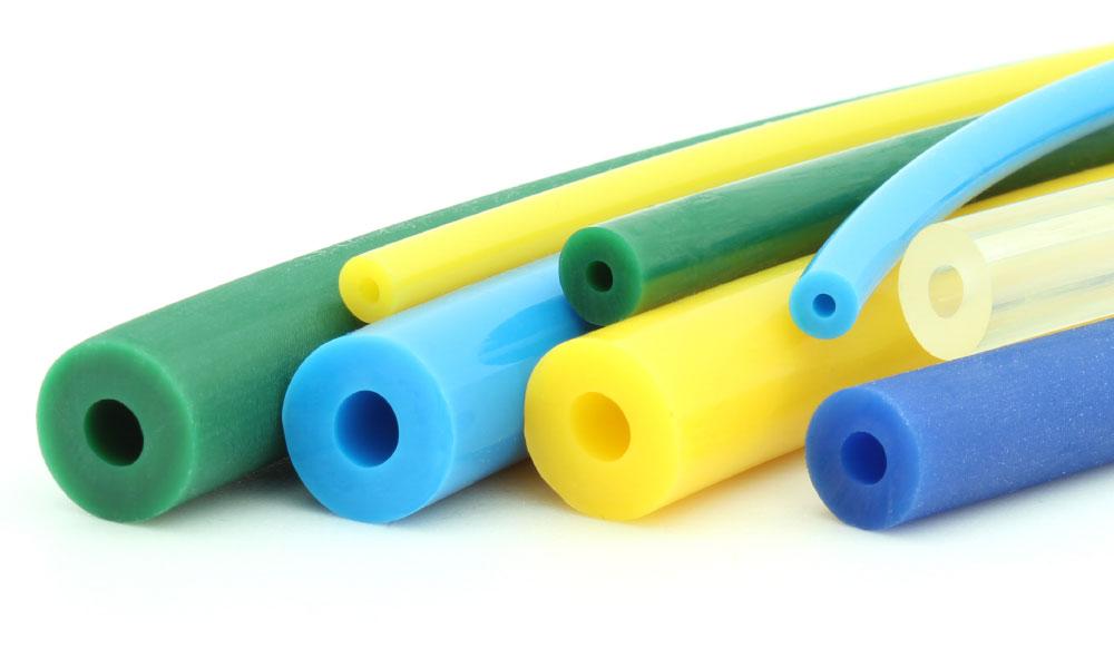 Hohlrundriemen grün blau gelb transparent