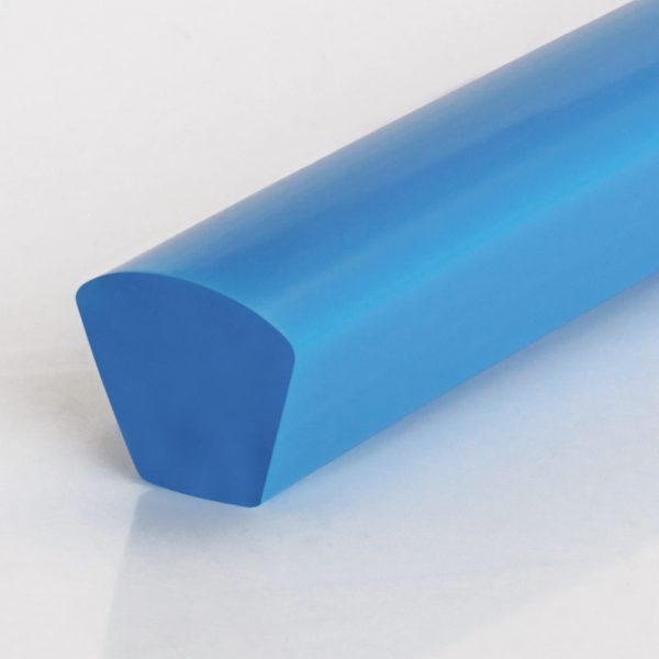 Keilriemen PU75A himmelblau glatt mit gewölbter Oberfläche