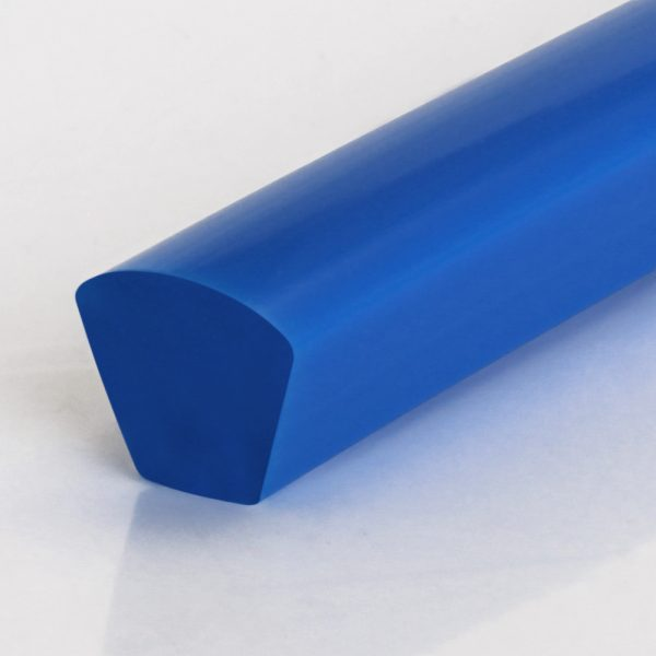 Keilriemen PU80A ultramarinblau glatt mit gewölbter Oberfläche