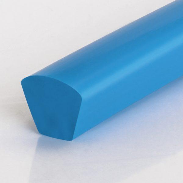 Keilriemen PU85A saphirblau glatt mit gewölbter Oberfläche