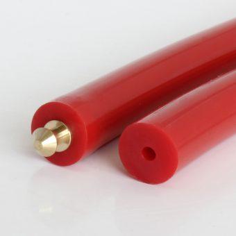 Hohlrundriemen PU75A rot glatt
