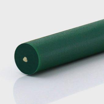 Rundriemen PU85A grün geraut, Zugträger Aramid