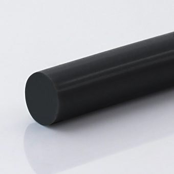 Rundriemen PU85A schwarz glatt, antistatisch-konduktiv