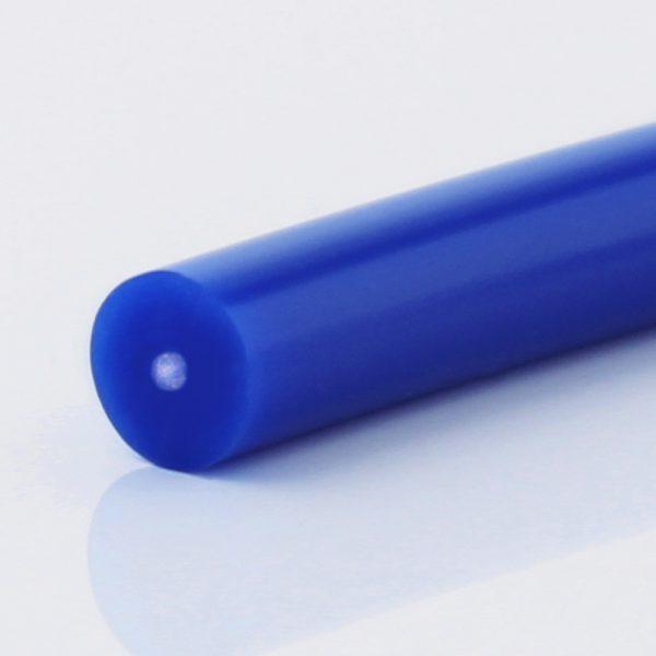 Rundriemen PU85A ultramarinblau glatt, Zugträger Glasfaser PU