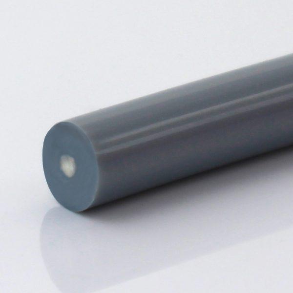 Rundriemen Polyester TPE63D silber glatt, Zugträger Polyester